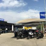 Parking couvert pour les motos