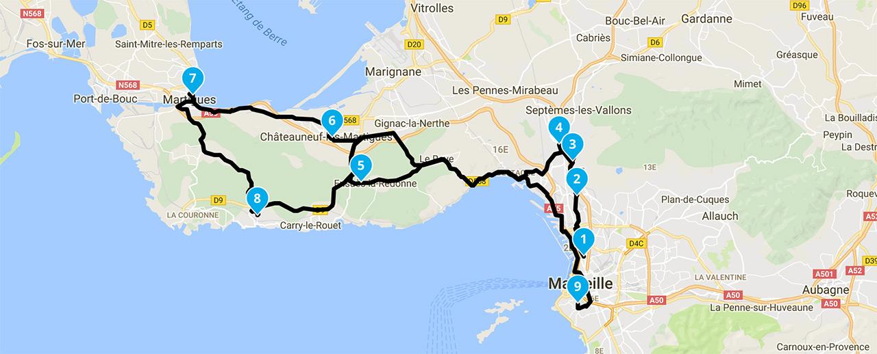 Sortie moto Marseille