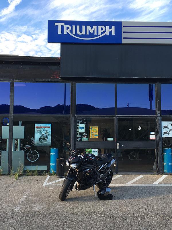 Livraison chez Triumph Provence du Speed Triple