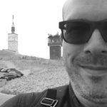 David Jazt en haut du Mont Ventoux