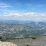 vue depuis le Mont Ventoux : pensée à papa qui est monté ici à vélo, bravo !