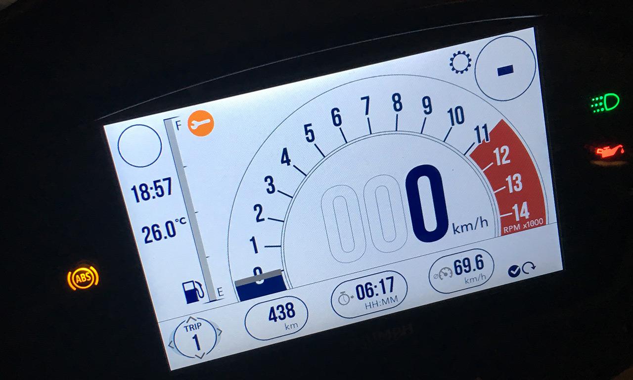 Près de 500km à moto