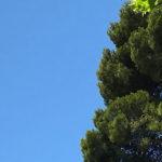 Magnifique ciel bleu de la côte d'azur
