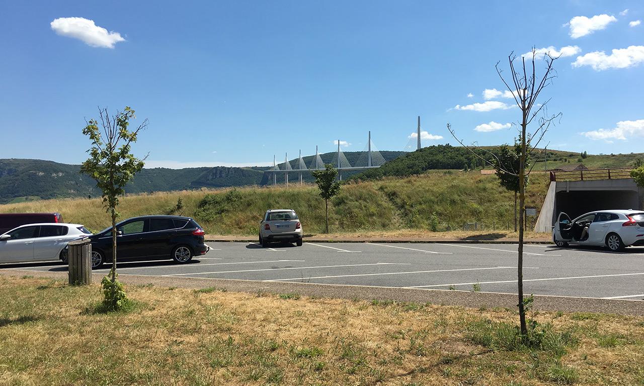 air de repos Viaduc de Millau
