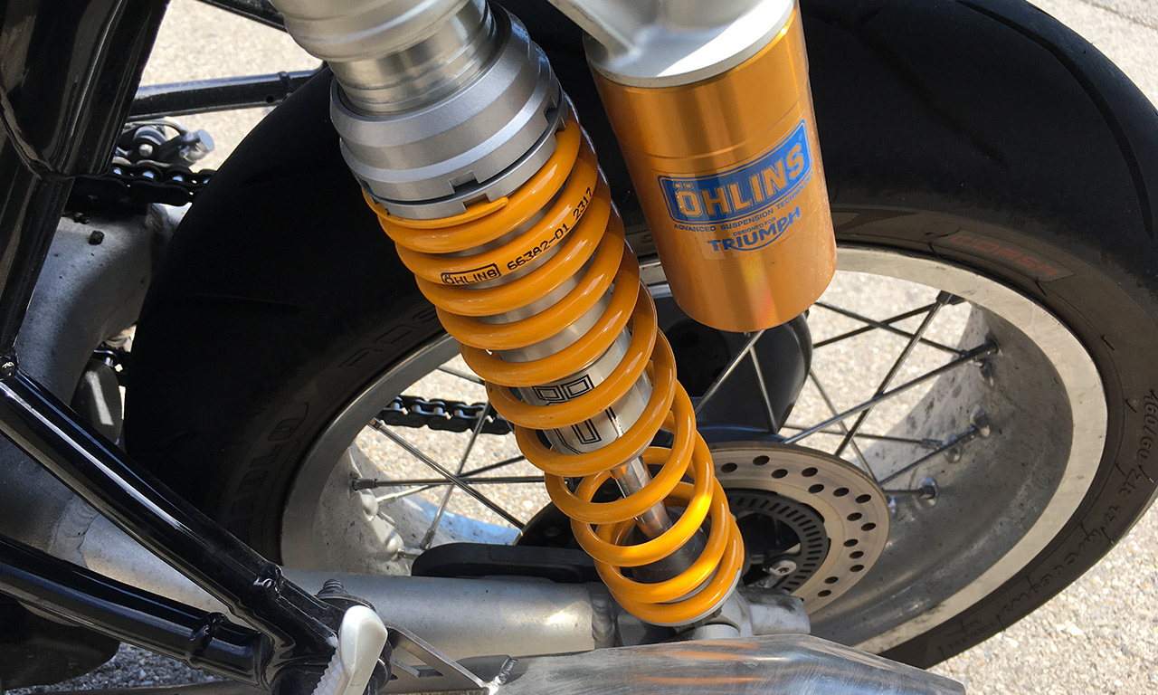 Suspension Ohlins sur le Triumph Thruxton 1200 R