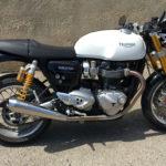 essai moto anglaise Triumph Thruxton 1200 R