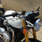look à l'ancienne du Triumph Thruxton 1200 R