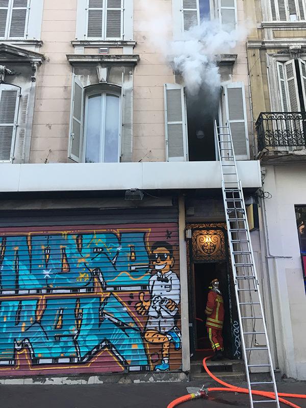 fumée dans l'appartement