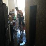 Appartement inondé pour éteindre le feu