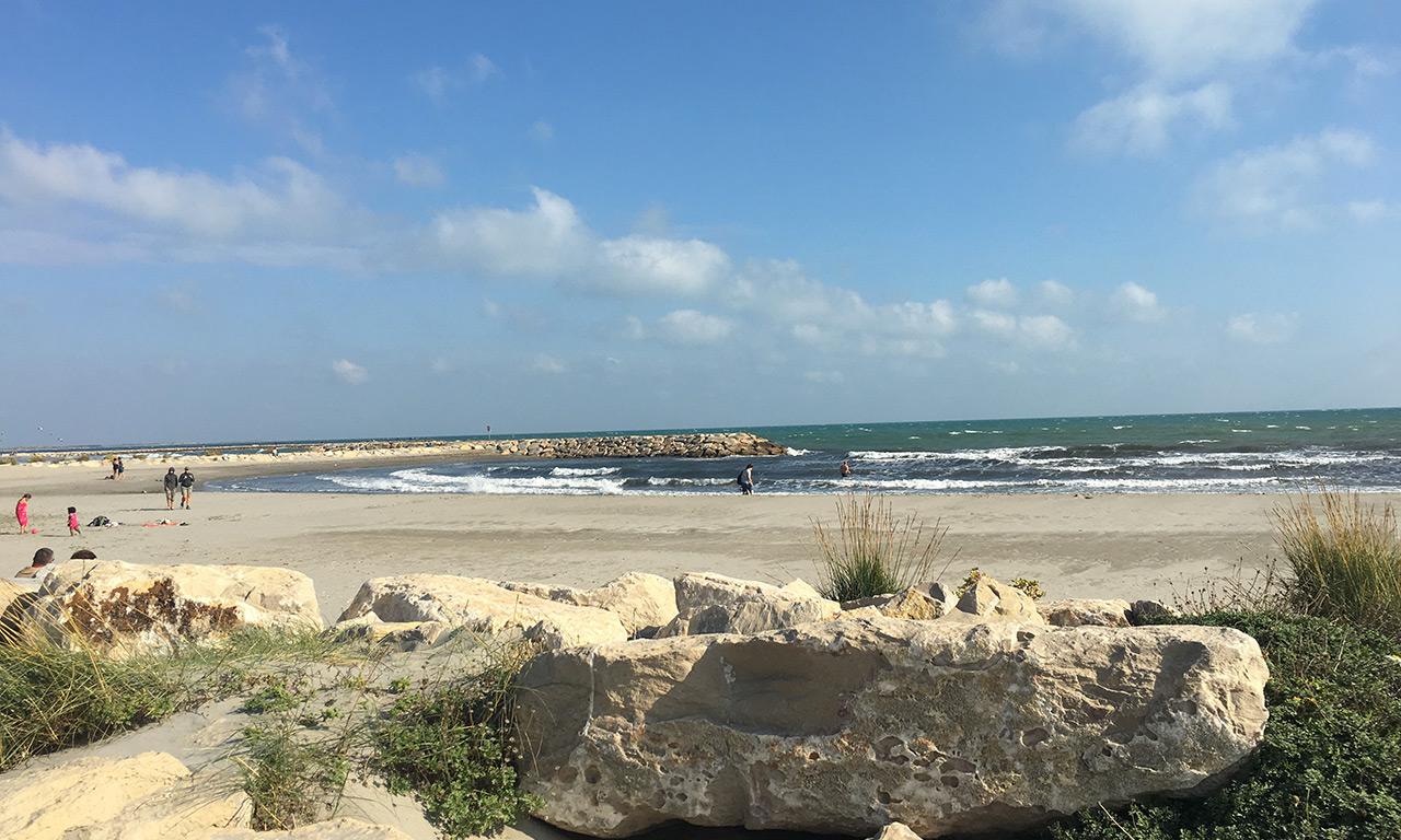 vue mer à Saintes Maries de la mer