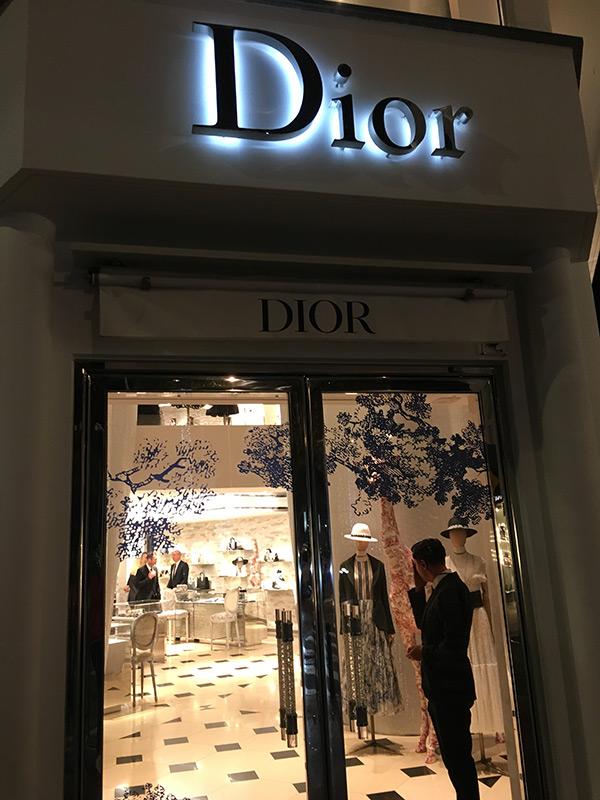 Boutique et Shopping à Cannes : Dior