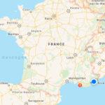 Cannes sur une carte