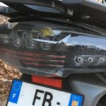 feu arrière du K1600GT ressemble à celui du C650GT BMW