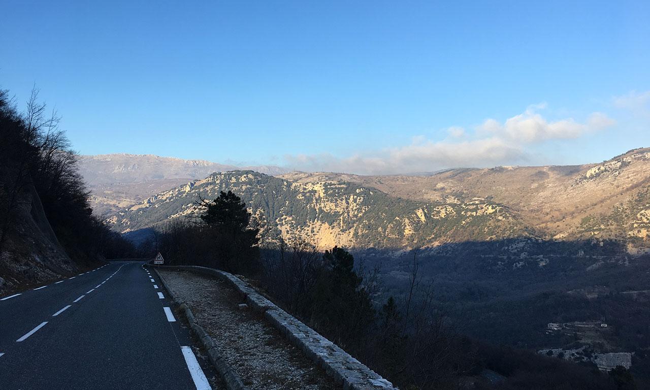 vue montagne depuis Magagnosc