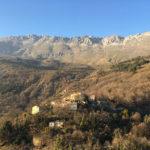 vue sur montagne au nord de Cannes