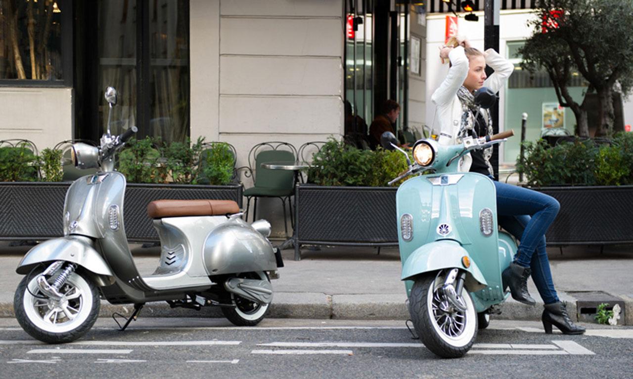 Scooter électrique au look rétro : idéal pour ses déplacements urbains