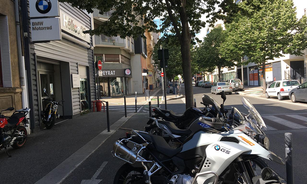 La concession BMW motorrad de Valence