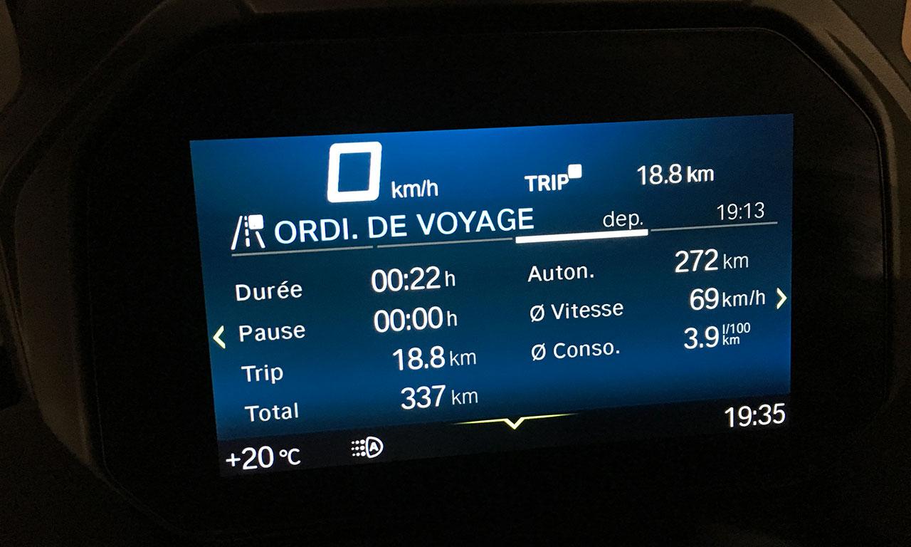 information au tableau de bord du C400GT BMW (5)