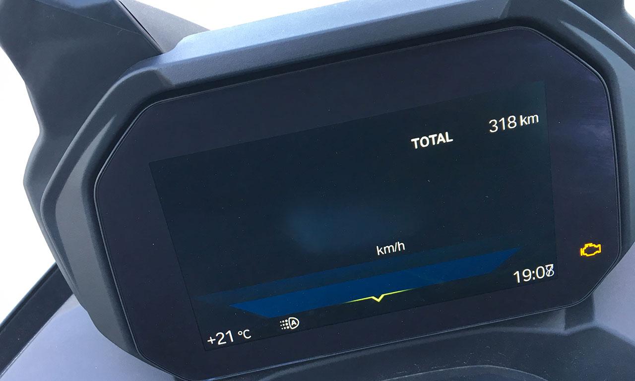 tableau de bord du scooter C400GT, LCD (2)