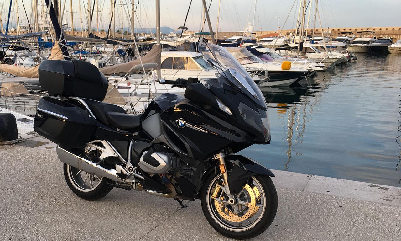 Port d'Antibes en BMW RT
