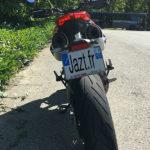 Ducati Hypermotard 950 - vue depuis l'arriere