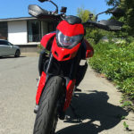 Ducati Hypermotard 950 - vue depuis l'avant