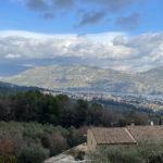 Vue sur l'arrière pays Niçois, depuis les hauteurs de Carros