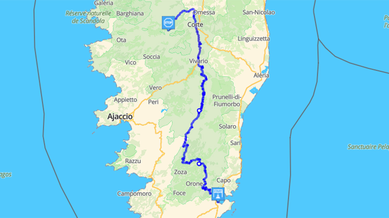 Roadbook moto : tour de Corse (jour 5)