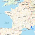 en bas en droite de la France
