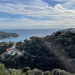 Vue depuis le moyenne corniche vers Nice, vue mer