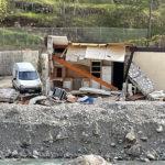 Maison dévastées dans la vallée de Roya