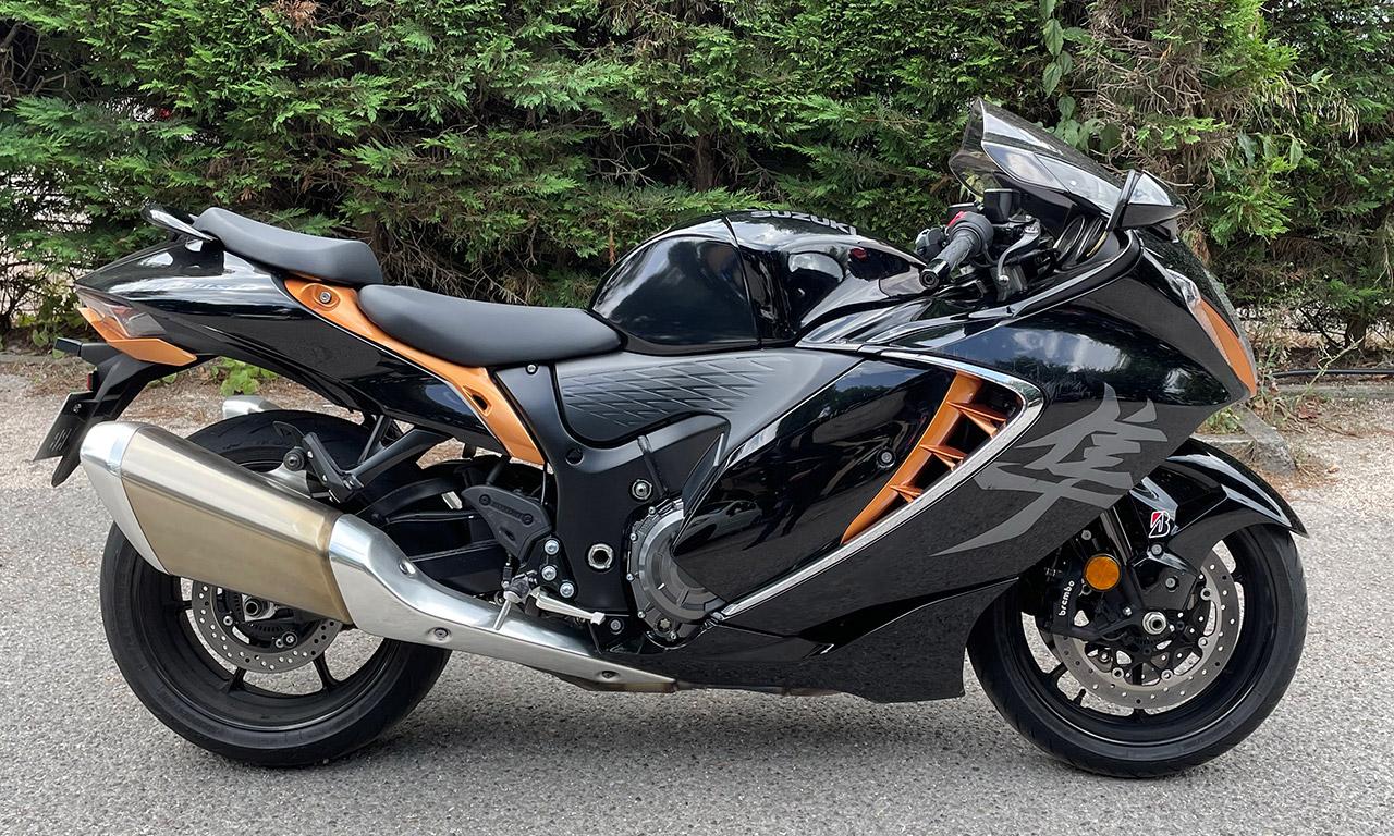 Suzuki Hayabusa 2021 noire et orange